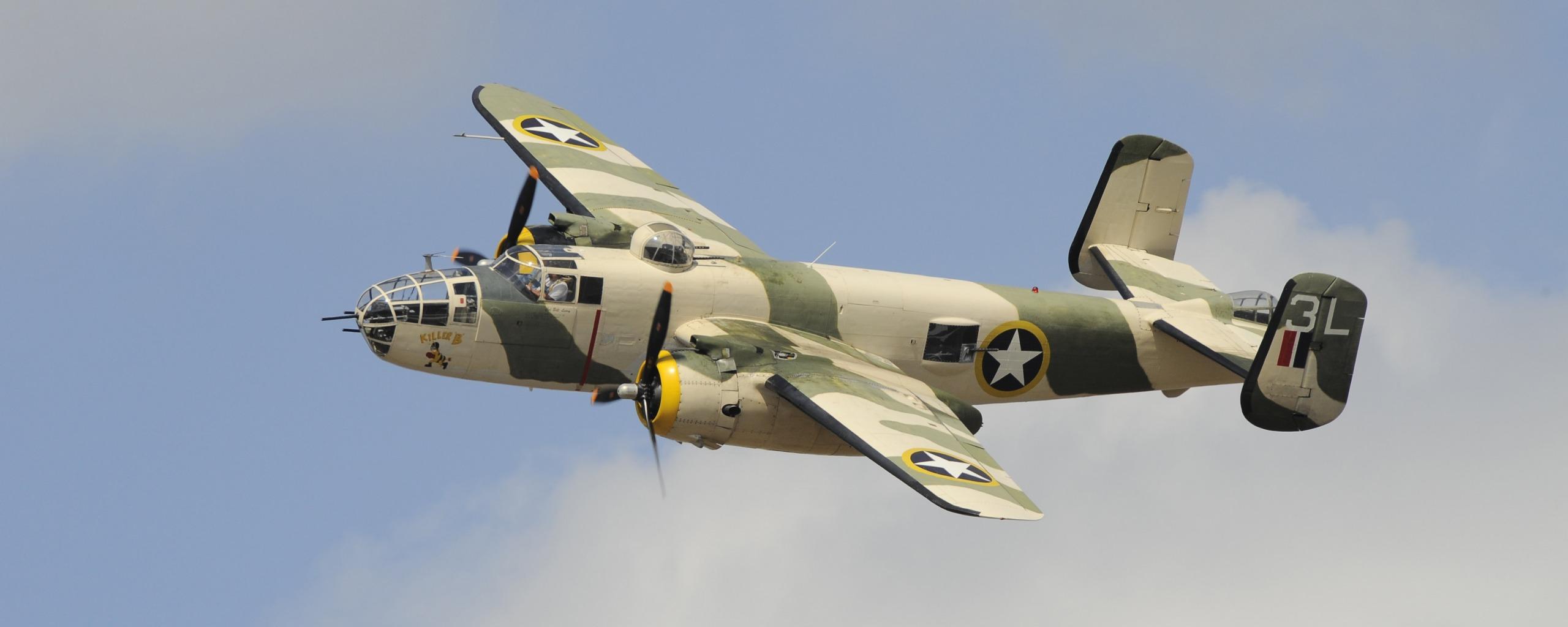 Обои средний, двухмоторный, b-25j, американский, North american. Авиация foto 14